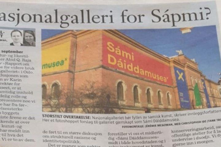 Nasjonalgalleri for Sápmi?