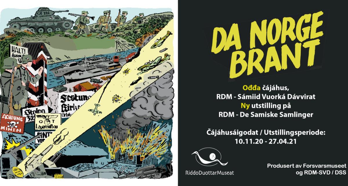 """NY UTSTILLING fra 10.11: """"Da Norge brant"""""""