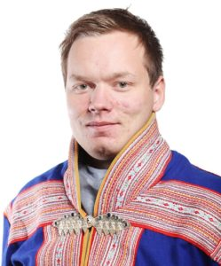 Portrett av en mann i Kautokeino kofte